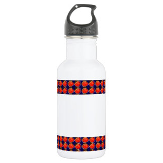Infiniity Symbol Red BLANK strip add TEXT IMAGE 99 18oz Water Bottle