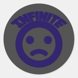 Infinite =( 2 classic round sticker
