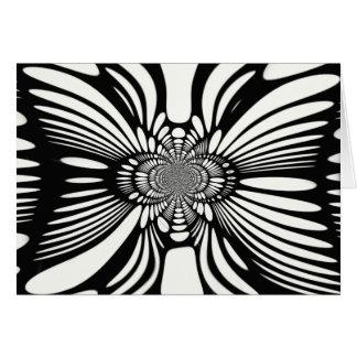 Infinite Abstract Monochromatic Illusion Card