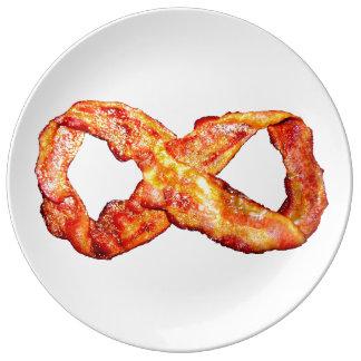 Infinite Bacon Porcelain Plate