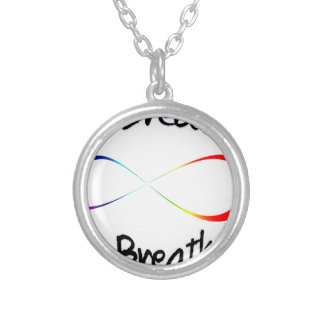 infinite breath silver plated necklace