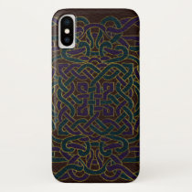 Infinite Celtic Knot Pattern on Leather