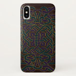 Infinite Celtic Knot Pattern on Leather iPhone X Case