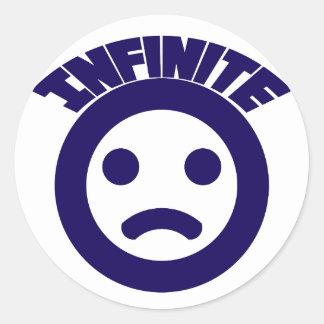 Infinite =( classic round sticker
