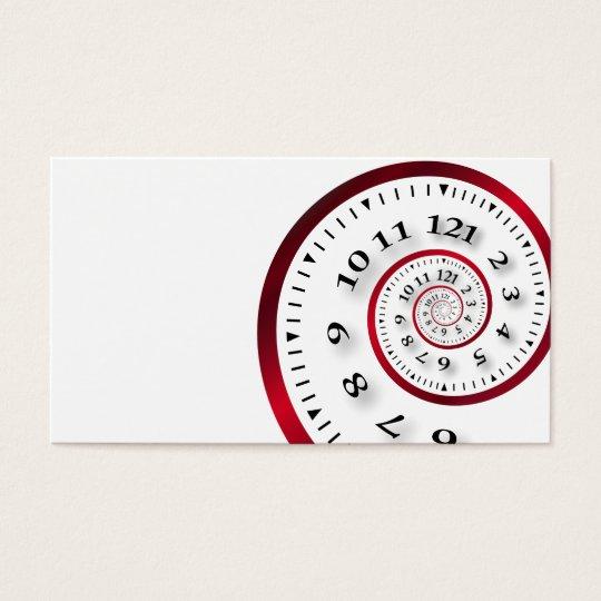 Infinite clock business card