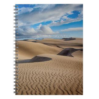 Infinite Dunes Spiral Note Book