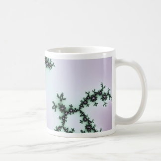 Infinite Green Turtles Fractal Design Coffee Mug