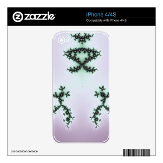 Infinite Green Turtles Fractal Design Decal For iPhone 4
