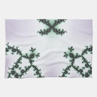 Infinite Green Turtles Fractal Design Kitchen Towel