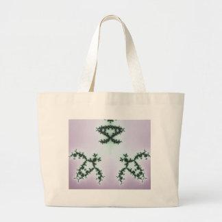 Infinite Green Turtles Fractal Design Large Tote Bag