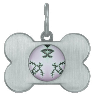 Infinite Green Turtles Fractal Design Pet Name Tag