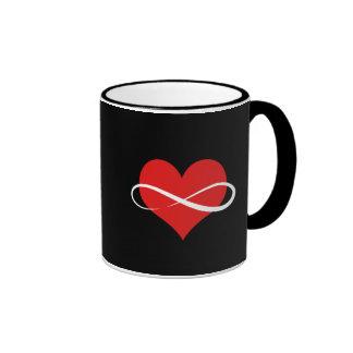 Infinite Heart Ringer Coffee Mug