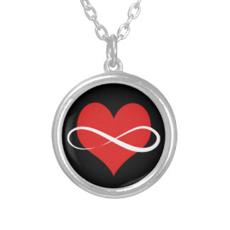 Infinite Heart Silver Plated Necklace