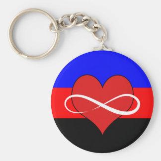Infinite Heart with Flag Keychain