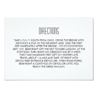 Infinite Initials Wedding Directions Card Mint