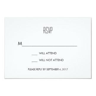 Infinite Initials Wedding RSVP Card Mint
