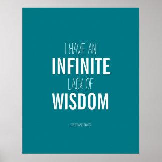 Infinite Lack Of Wisdom Poster