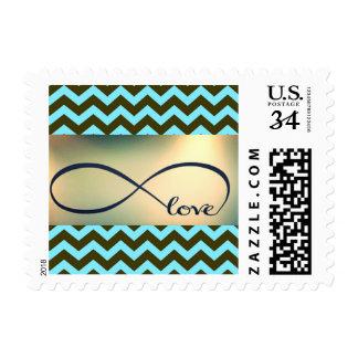 Infinite Love Chevron Postage Stamp