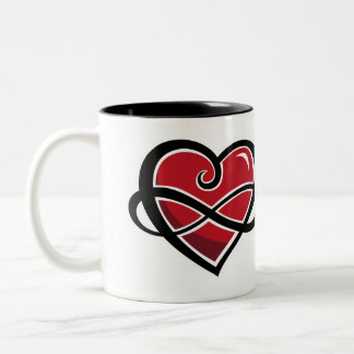 Infinite love cup Two-Tone coffee mug
