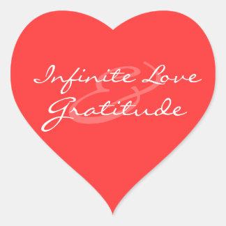 Infinite Love & Gratitude Heart Sticker