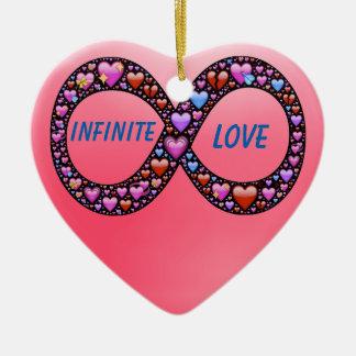 Infinite Love heart ornament Ceramic Heart Ornament