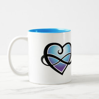 Infinite love Two-Tone coffee mug