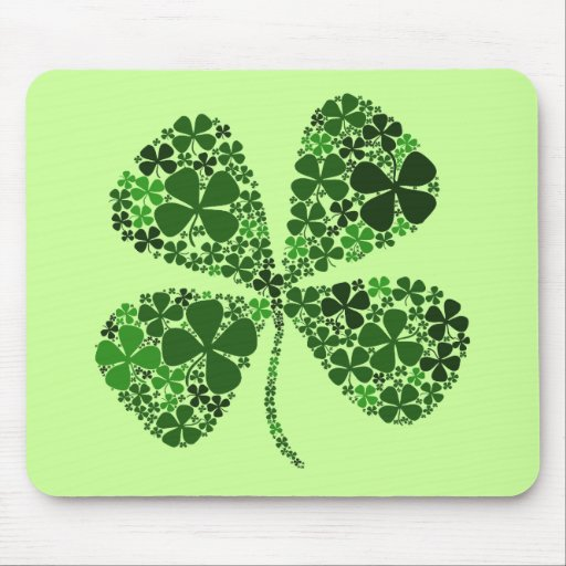 Infinite Luck 4-leaf Clover Mouse Pad