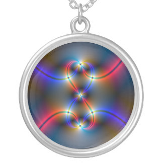 Infinite Neon Silver Plated Necklace