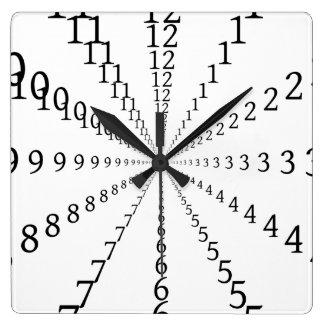 Infinite numbers square wall clock