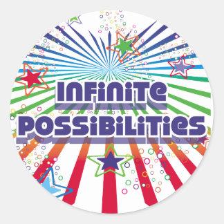 Infinite Possibilities Classic Round Sticker