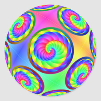 Infinite Rainbow Spirals Sticker