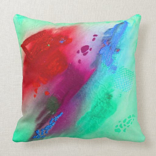 Infinite Seafoam Green and Red (large pillow) Throw Pillow Zazzle