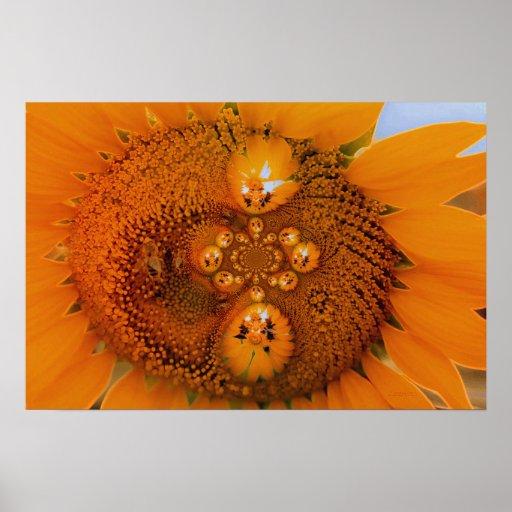 Infinite Sunflower Poster