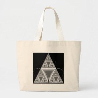 Infinite Triangles Large Tote Bag