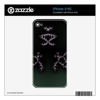 Infinite Turtles Fractal Dark Background Design Decals For The iPhone 4S