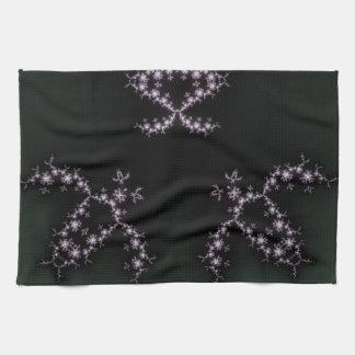 Infinite Turtles Fractal Dark Background Design Hand Towels
