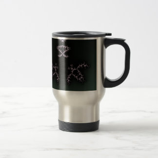 Infinite Turtles Fractal Dark Background Design Travel Mug