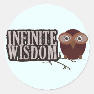 Infinite Wisdom Classic Round Sticker