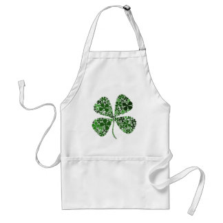 Infinitely Lucky 4-leaf Clover Adult Apron