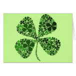 Infinitely Lucky 4-leaf Clover Greeting Card