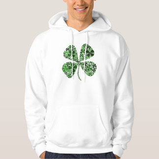 Infinitely Lucky 4-leaf Clover Hooded Sweatshirt