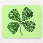 Infinitely Lucky 4-leaf Clover Mouse Pad