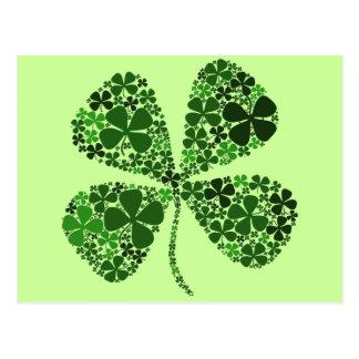 Infinitely Lucky 4-leaf Clover Postcard