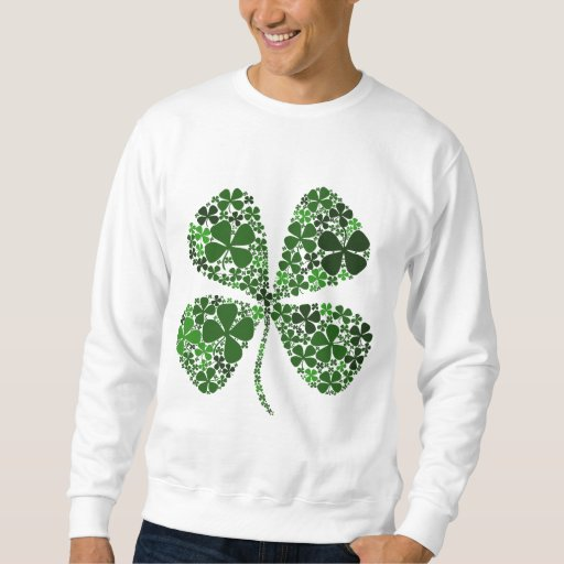 Infinitely Lucky 4-leaf Clover Pullover Sweatshirt