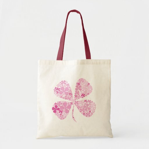 Infinitely Lucky Pink Clover Bags