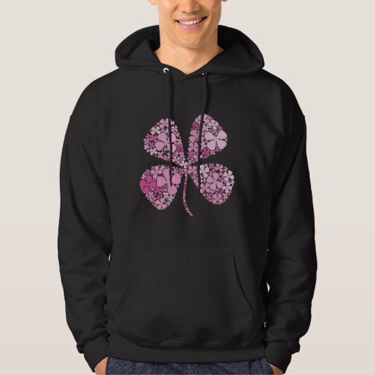 Infinitely Lucky Pink Clover Hoodie