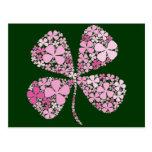 Infinitely Lucky Pink Clover Postcard