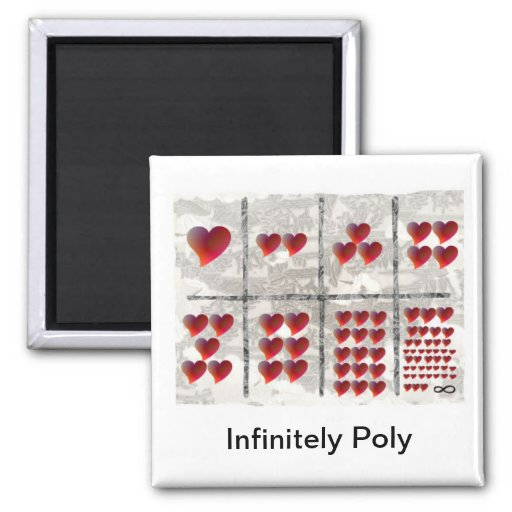 Infinitely Poly Fridge Magnet