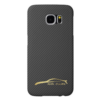 Infiniti G35 Coupe gold silhouette logo Samsung Galaxy S6 Cases