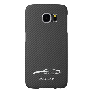 Infiniti G35 Coupe White Silhouette Logo Samsung Galaxy S6 Cases